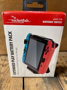 Rocketfish- Extended Play Battery Pack For Nintendo Switch - Black New in box