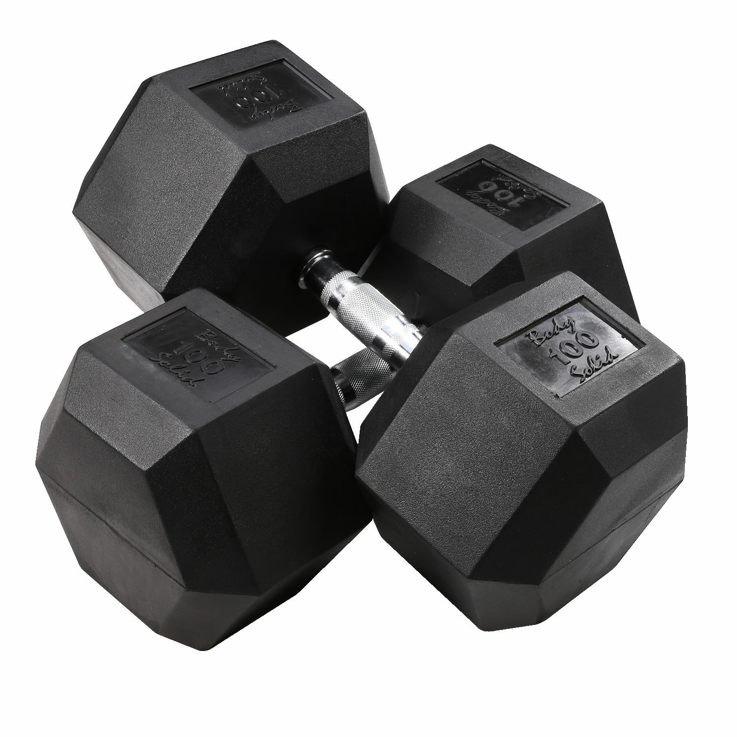 100 lb. Rubber Coated Dumbbell Pair, Body-Solid SDR100