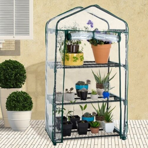 Garden Greenhouse Green Hot Plant House Shed Storage Cover Apex 3//4//5Tiers IN9X