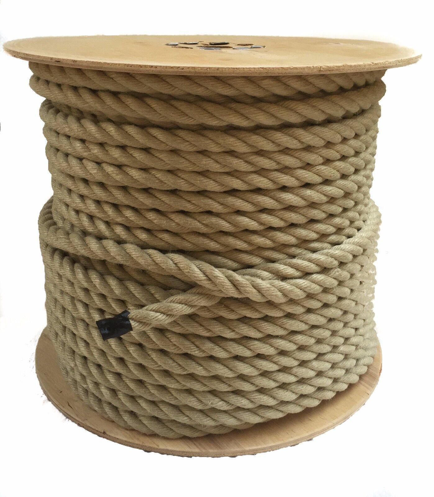 CANAPA sintetica corda, 10mm x 75 metri rocchetto, polyhemp per TAVOLATO