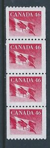 Canada-1695i-Wide-Spacing-Perforation-Jump-Coil-Strip-of-4-MNH-Free-Shipping