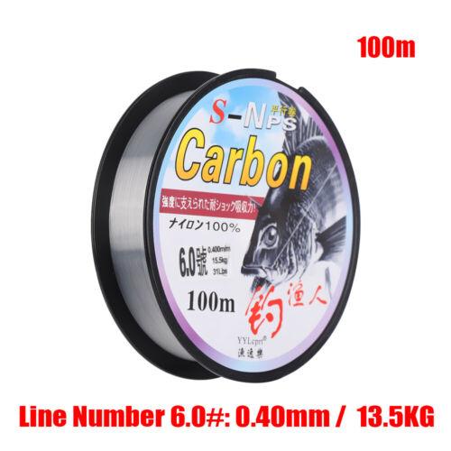 Monofilament Fluoro Carbon Polyester Bait  Fishing Line Elastic Thread Spool