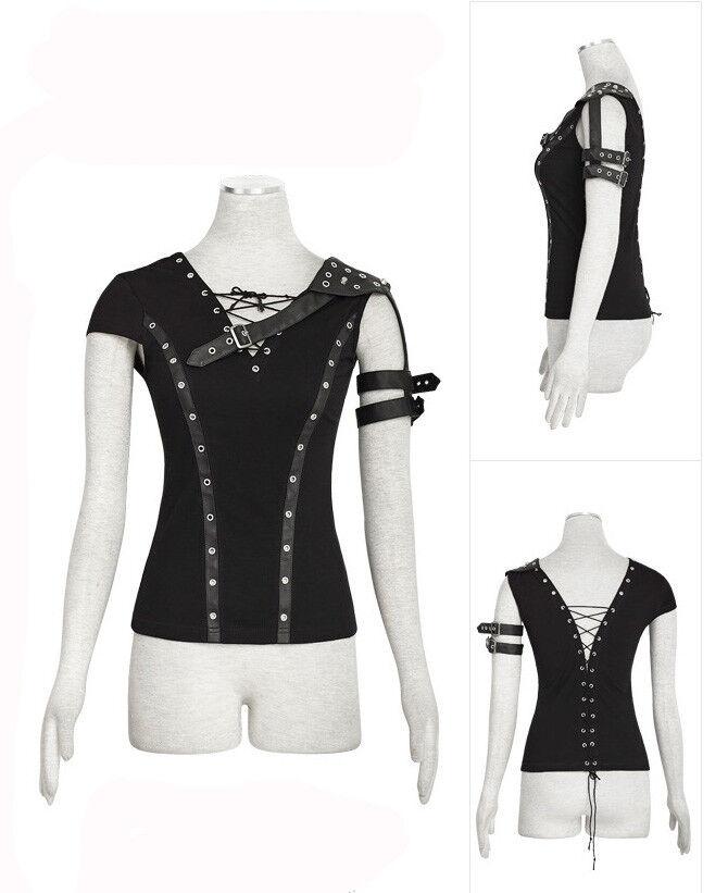 Top t-shirt gothic punk lolita lolita lolita steampunk bekümmert Gurt Schnürung offen Punkrave | Nicht so teuer  | Umweltfreundlich  | Überlegen  | Billig ideal  | Bekannt für seine hervorragende Qualität  926a37