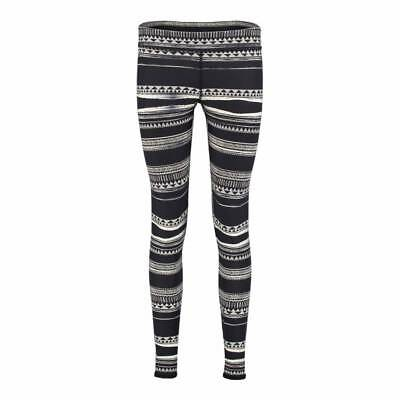 S ONeill SurfZp Leggings Black Out Ladies UK 10 Black
