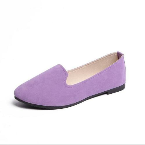 New Womens Boat Shoes Casual Ballet Slip On Flats Loafers Single Shoes Size 5-10
