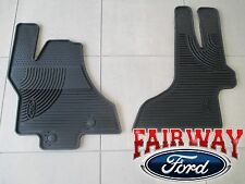 11 thru 17 Econoline OEM Genuine Ford Rubber All Weather Floor Mat Set 2-pc NEW