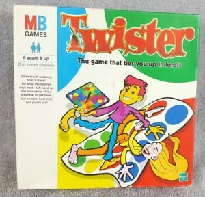 Twister-Fun-Family-Game-Vintage-1999-Hasbro-The-Game-That-Ties-You-Up-In-Knots