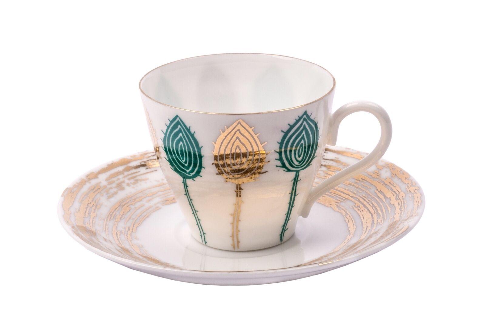 Sargadelos or Cardo Expresso Cup and Saucer