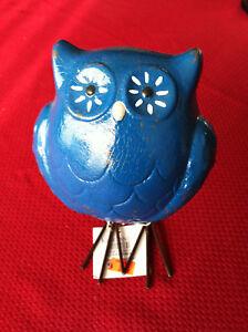Details About New Kirkland S Blue Turquoise 7 Owl Ceramic Statue Home Decor