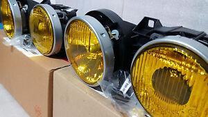 BMW-M3-e30-Rare-HELLA-France-Yellow-Headlight-Glass-Lamp-Lens-NOS-New