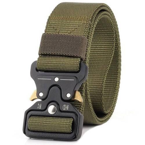 Herren Militär Gürtel Taktischer Armeegürtel Schnalle Belt Koppel Hosengürtel