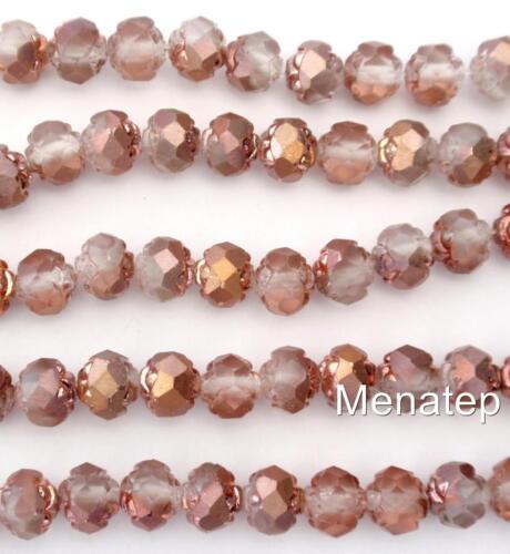 Matte Apollo Gold 25 5//6 mm Czech Glass Small Rosebud Beads