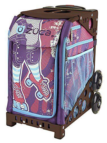 ZUCA Bag Roller Girl Insert & Brown Frame w  Flashing Wheels
