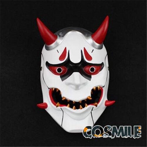 Genji じやく Jyaku Oni Hannya 般若 Cosplay Prop White Hallowmas Mask Japanese Gift Sa