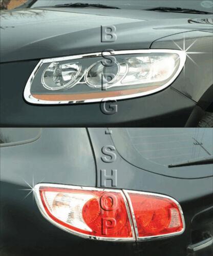 Accessoires Pour Hyundai Santa Fe 2006-2009 Chrome Cadre Phares Feux arrières