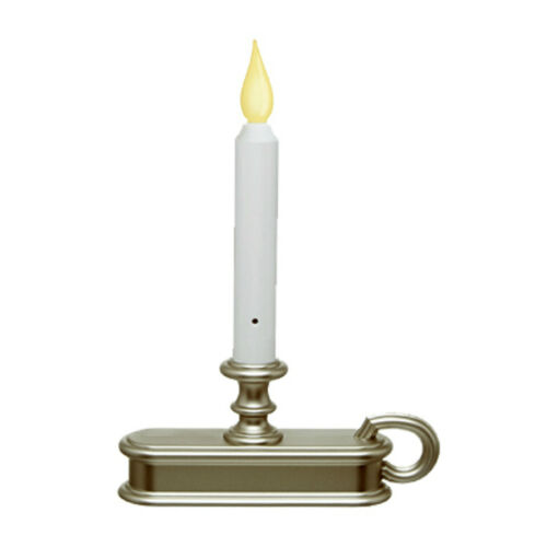 Carlon FPC1225P Traditional Deluxe Battery-Operated LED Window Candle Pewter