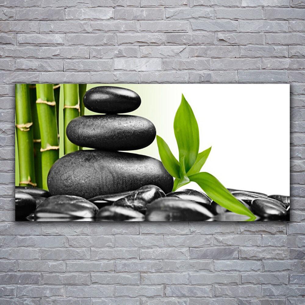 Photo sur toile Tableau Image Impression 120x60 Art Pierres Feuilles