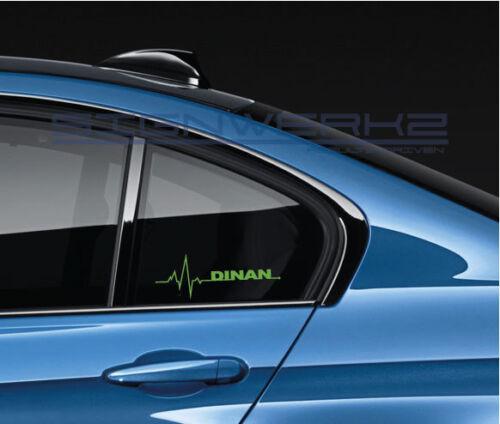 Dinan heart beat pulse Decal Sticker left M1 M2 M3 M4 M5 MX5 MZ4 X3 X5 BMW Pair