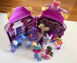 Hasbro-My-Little-Pony-Play-House-Castle-Custodia-di-trasporto-includono-Pony-Bundle-X-6-GUC