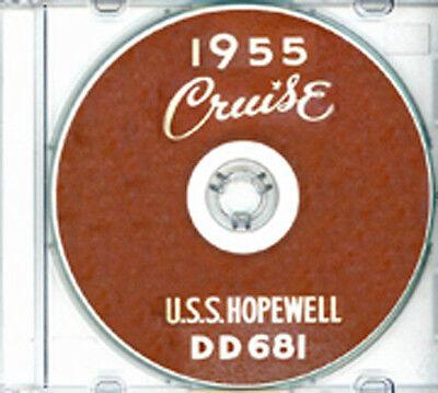 USS Hopewell DD 681 1955 CRUISE BOOK Log CD