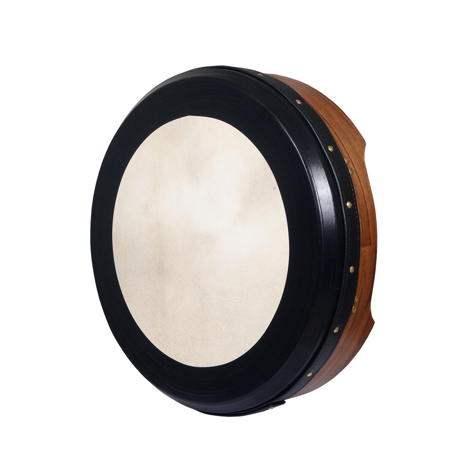 Muzikkon 16 x4  Bodhran Tunable Walnut T-Bar Deep tune, Irish Drum Tunable