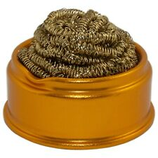 Soft Coiled Brass Soldering Iron Tip Cleaner Wire Sponge For Lead Free Solder