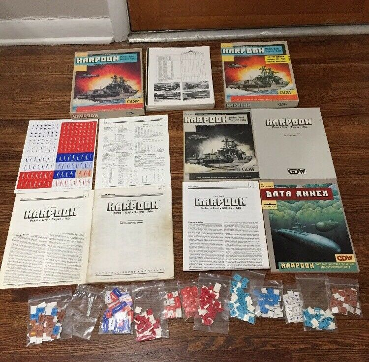 Lot Of 2 Harpoon Modern Naval Wargame Rules GDW GDW GDW 1987