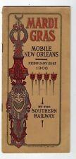 1906 Southern Railway Mardi Gras Mobile New Orleans Brochure
