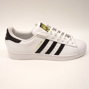 lowest price 5a533 719f6 Image is loading New-Adidas-Mens-White-Originals-Superstar-Sneakers-Shoes-