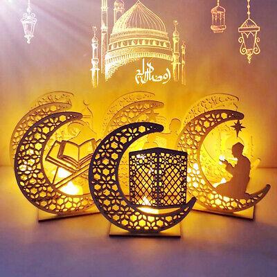 Ramadan Holz Eid Mubarak Dekoration Mond Islam Moschee Muslim Holzplake G5C6 10X
