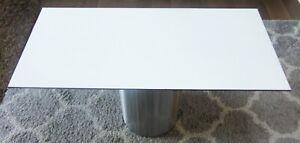 HPL Platte Tischplatte 8mm White beidseitig 1152 x 521mm TRESPA® Meteon® A03.0.0