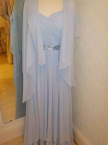 Maat Detail Jurk Blue Sj90220 16 Pale Sjaal Bacconi Gina Ruche wxUTPpa4