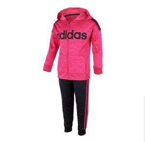 Adidas Youth Girls 2PC ActiveWear Set Pink//Purple
