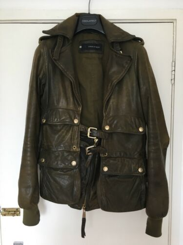 40 It Leather Size Jacket Women's Dsquared A8XqFBSxw