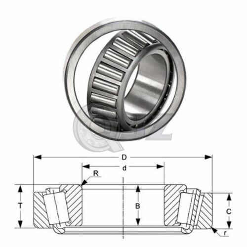 2x A2047-A2126 Tapered Roller Bearing QJZ New Premium Free Shipping Cup /& Cone
