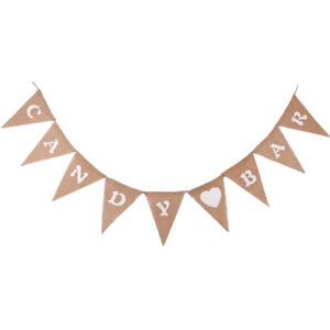 rustic-hessian-burlap-candy-bar-sign-bunting-banner-wedding-reception-party-Tx