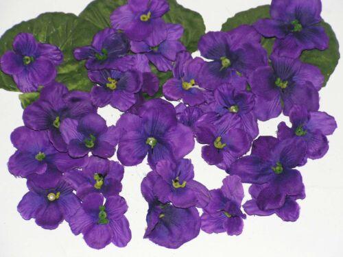 24 er Set Mix Streu Blüten 3,5-4,5 cm violett verarbeiten Bastelposten 5690