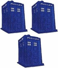 Doctor Who Police Box Embroidered Logo Tardis Blue Iron On Set of 3 Patch