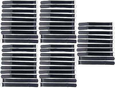 Cavo 50x Nastro Di Velcro 16cm X 16mm Nero Nastro Di Velcro Velcro Fascette Per Cavi A Nastro Con Ponticello-