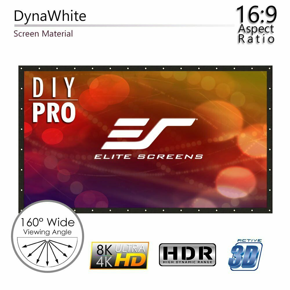 Elite Screens DIY236H1 DIY Pro Series 236  Outdoor Projection Screen DynaWhite