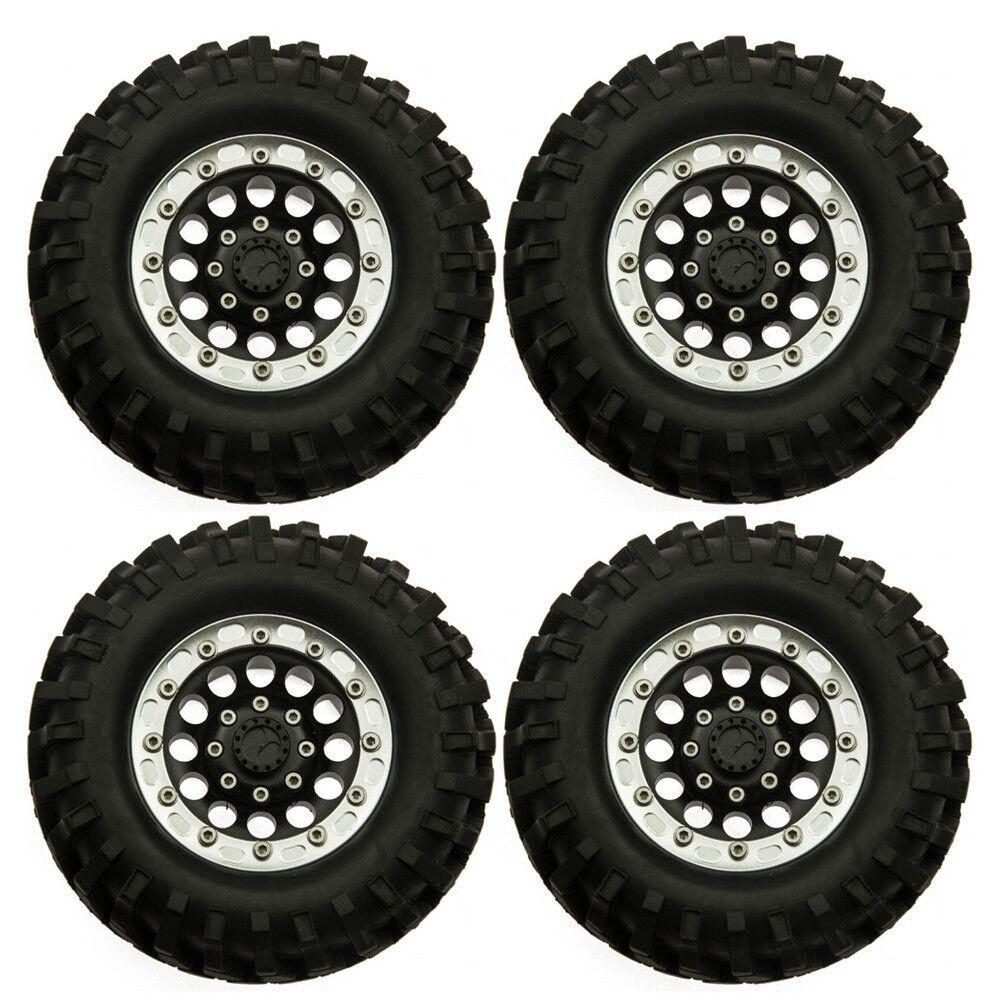 4PCS 1.9  Wheel Rims & 96mm Rubber Tires for RC 4WD D90 SCX10 RC 1 10 RC Crawler