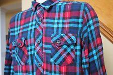 Vintage OP Flannel Shirt L/S Button Down Plaid Surfer Ocean Pacific Large Men L
