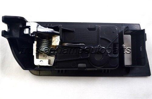 for Ford Mazda Inside Interior Inner Door Handle Driver Front Left Black Chrome
