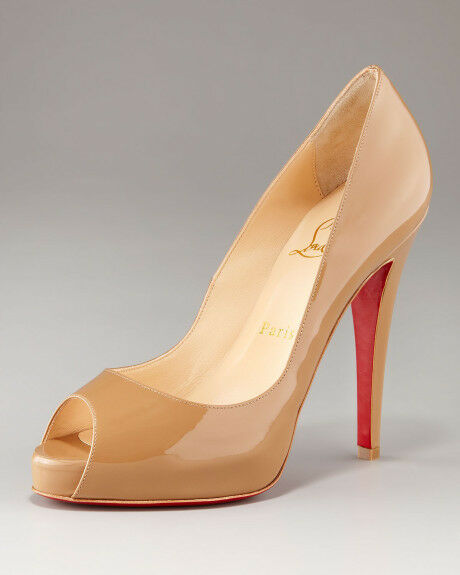 info for 5d95b 39534 100 Auth Women Louboutin Very Prive 120 Camel Patent Heels/pumps US 10