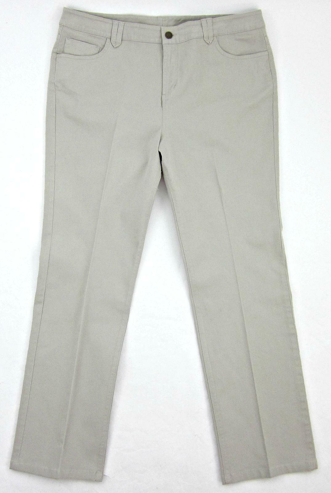 Soft Surroundings Sz. 14 Khaki Stretch Cotton Twill Ankle Jeans Pants
