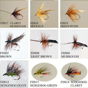 Sedge-Caddis-Dry-Trout-Flies-039-12-Pack-039-Various-Patterns-Sizes-12-14-Fly-Fishing