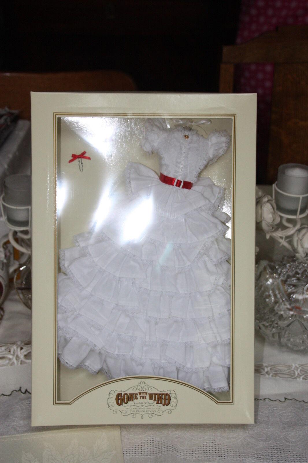 GWTW Franklin Mint Scarlett O'hara Tara Vestido Nrfb Caja de envío original, Certificado De Autenticidad