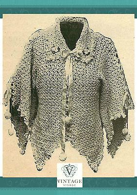 Vintage downton abbey era crochet pattern for a stylish kimono jacket