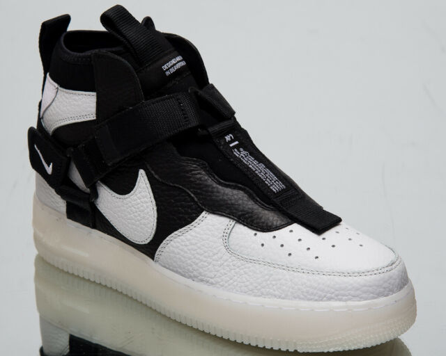 info for 9f33a 82e4e Nike Air Force 1 Utility Mid Men's New Off White Black AF1 Sneakers  AQ9758-100