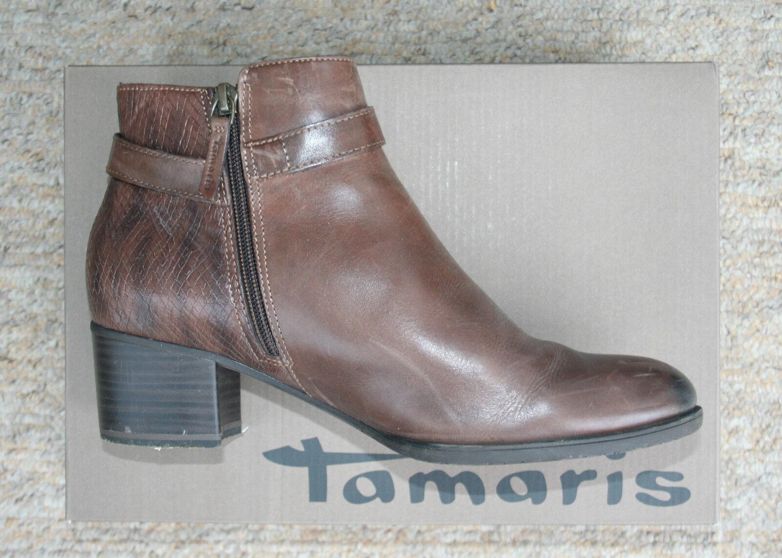 Leder-Stiefeletten, Gr.40, von Tamaris, braun(muscat)